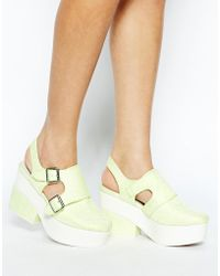 Asos Green Papaya Platforms - Lyst