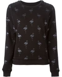 Zoe Karssen Flamingo-Print Cotton-Blend Sweatshirt - Lyst