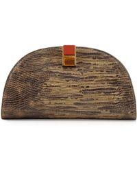 Etienne Aigner Crown Leather Mini-Clutch - Lyst
