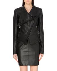 Gareth Pugh Draped Leather Jacket - For Women - Lyst