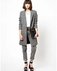 Helene Berman Classic College Coat in Mixed Check - Lyst