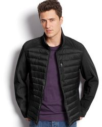 Calvin Klein Mixed Media Jacket - Lyst