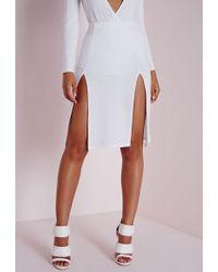Double Thigh Split Skirt April 2017