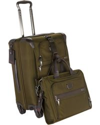 Tumi - Alpha 2 Olive Four-Wheeled Continental Carry-On - Lyst