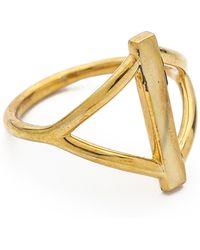 Pamela Love Balance Ring Brass - Lyst