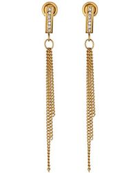 Michael Kors Collection Pave Bar Linear Post Earring - Lyst