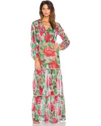 Agua de Coco - Lace Roses Maxi Dress Cover Up - Lyst