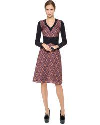 Giulietta - Venere Dress In Print Jacquard - Black - Lyst