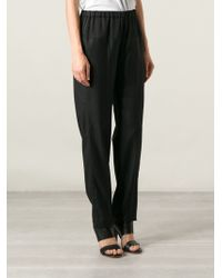 Mm6 By Maison Martin Margiela High Waisted Trousers - Lyst