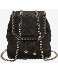 Stella McCartney Quilted Mini Backpack Black - Lyst