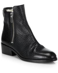 3.1 Phillip Lim Alexa Leather & Shearling Ankle Boots - Lyst