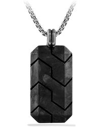 David Yurman Forged Carbon Tag Necklace - Lyst