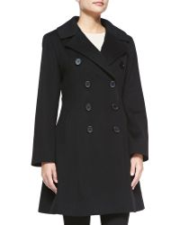 Sofia Cashmere Double-Breasted Princess Coat black - Lyst