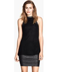 H&M B Draped Top - Lyst