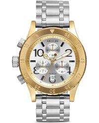 Nixon '38-20 Chrono' Watch silver - Lyst