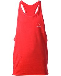 DSquared2 Red Sleeveless Top - Lyst