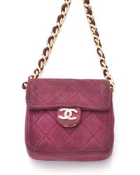 Chanel Pre-Owned Micro Mini Flap Bag - Lyst