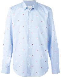 Jil Sander Whale Embroidered Striped Shirt - Lyst