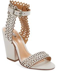 Schutz Carolinis High Heel Leather Sandals - Lyst