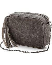 Lauren Merkin Glitter Meg Cross Body Bag Pewter - Lyst