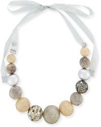 Marina Rinaldi - Leonida Mixed-media Ball Necklace - Lyst