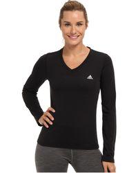 Adidas Ultimate Ls Vneck Tee - Lyst