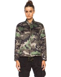 Valentino Short Camo Puffer Poly Jacket - Lyst