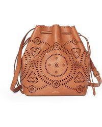 Polo Ralph Lauren | Laser-cut Leather Bucket Bag | Lyst
