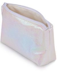 Topshop Petrol Metallic Make-Up Bag - Lyst