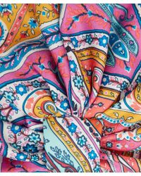 Etro - Pink Paisley Silk Turban - Lyst