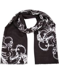 Lost & Found - Printed Scarf - Lyst