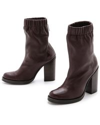Opening Ceremony Lucie Mid Boots Burgundy - Lyst