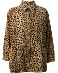 Yves Saint Laurent Vintage Faux Fur Coat - Lyst