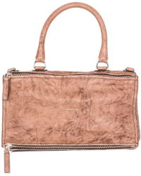 "Givenchy Brown Washed Leather Large ""Pandora"" Bag beige - Lyst"