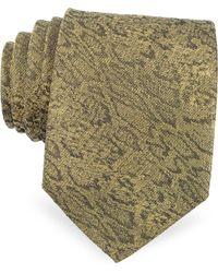 Roberto Cavalli - Animal Print Golden Silk Narrow Tie - Lyst