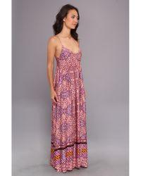 MINKPINK Water Color Tiles Maxi Dress - Lyst