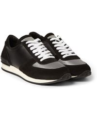 Our Legacy Runner Suede and Leather Sneakers - Lyst