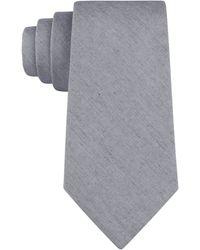 Calvin Klein Charcoal Black Wash Denim Slim Tie - Lyst
