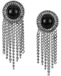 Sam Edelman - Stone Fringe Earrings - Lyst