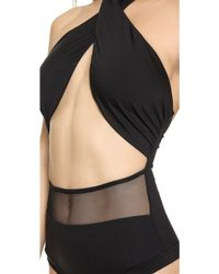 DEL MAR - Alayna Maillot One Piece - Black - Lyst