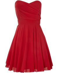 Tfnc Strapless Fit and Flare Dress - Lyst