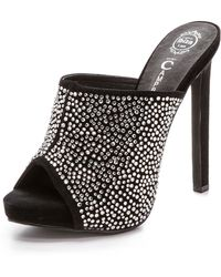 Jeffrey Campbell Roberts Embellished Mules - Blacksilver - Lyst