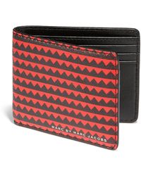 Marc By Marc Jacobs Zig Zag Leather Wallet - Lyst