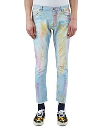 James Long - Men's Slim Tie-dye Painted Jeans In Blue - Lyst