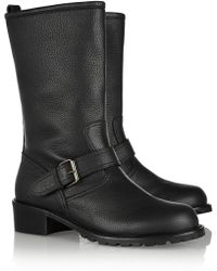 Giuseppe Zanotti Blok Textured-Leather Boots - Lyst