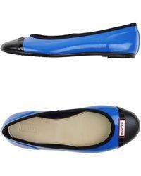 Hunter Ballet Flats blue - Lyst