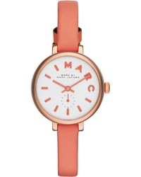 Marc By Marc Jacobs Sally Rose Goldtone Stainless Steel & Leather Strap Watch - Lyst