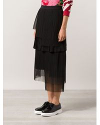 Manish Arora Pleated Layered Skirt - Lyst