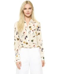 Edition10 - Zip Collar Blouse - Lyst
