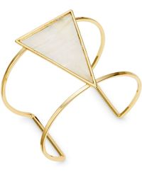 Panacea - Stone-accented Triangle Cuff Bracelet - Lyst